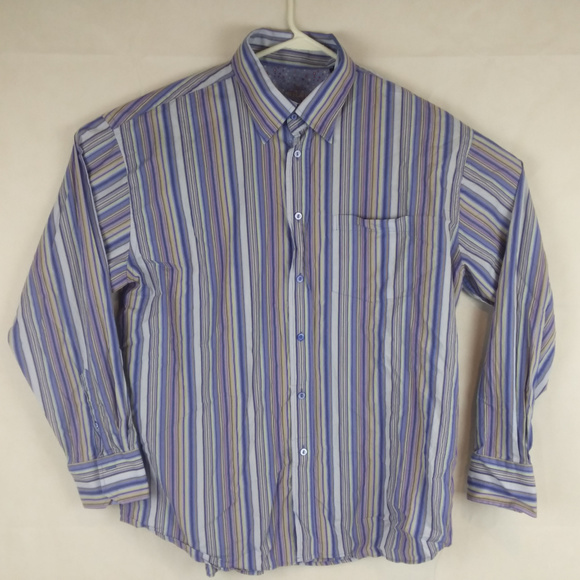 NWT NAUTICA MENS DRESS SHIRT REGULAR FIT-LAVANDER//BLACK PLAID-XL X-LARGE
